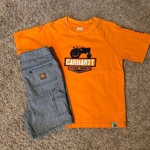 Carhartt shirt and short set